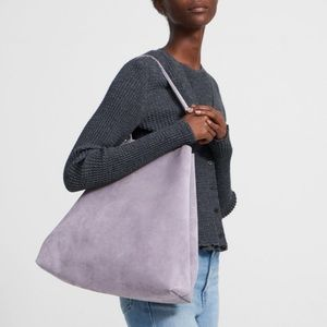 Chic Theory Classic Tote in Lavender Suede